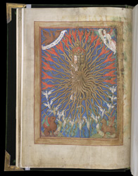 Full-Page Miniature Of The Trinity, In A Book Of Hours